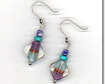 Alzheimer's Memory Earrings,  Memory Earrings,  Alzheimer's Awareness Jewelry,  Memorial Jewelry, Memory Jewelry,  Alzheimer's  Awareness