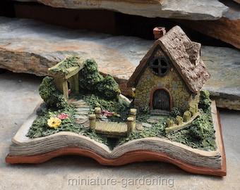 Fairy Village Storybook with Lights for Miniature Garden, Fairy Garden
