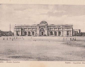 FREE POST - Old Postcard - EGYPT Cairo Museum - Vintage Postcard - Unused