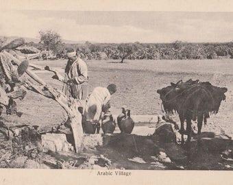 FREE POST - Old Postcard - EGYPT Arabic Village - Vintage Postcard - Unused