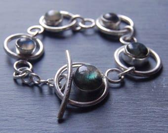 SALE. Labradorite and Sterling Silver Bracelet.
