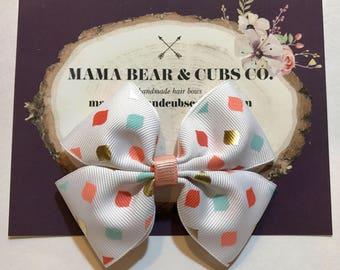 dot bow, hair bows, hair clips, girls hair bows, hair bows for girls, boutique bows, kids bows