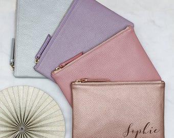 Personalised Luxury Pastel Leather Name Bag