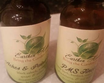 Moon Time Relief Duo: PMS Tincture and Aches&Pains Tincture