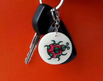 Eco friendly gifts back to school beetle Animal lover gift girlfriend Double-sided key ring best friends forever charms handbag Keychain bag