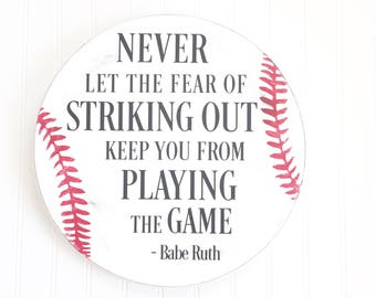 Babe ruth quote | Etsy