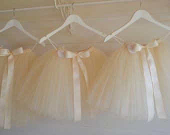 Tulle skirt, girls tutu, flower girl tutu dress, baby tutu, tulle skirt, tea length tutu skirt, flower girl dress