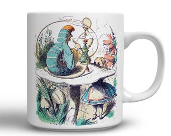 Inspirational Mug - Alice in Wonderland - Alice in Wonderland Coffee Mug - Advice from a caterpillar - Gift for Book Lover - gifts for her