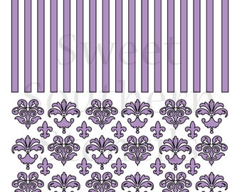 Damask and Stripes 2 in 1 Cookie Stencil
