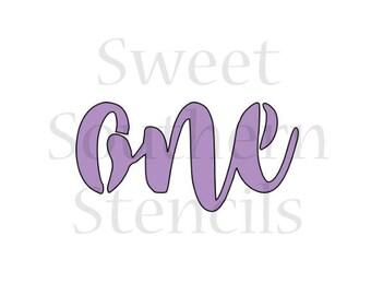 One Cookie Stencil