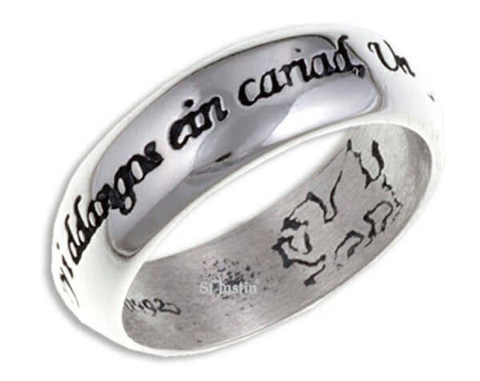 Welsh love ring 925 Sterling Silver Men Women Wedding Engagement Love Ring One Ring to Bind us- 7mm Width