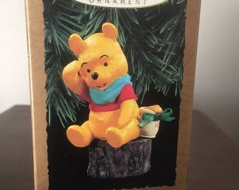 New original Box 1993 HALLMARK Magic winne the pooh magic hear his vouce Ornament mint