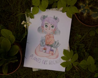 Plants Are Friends - Print