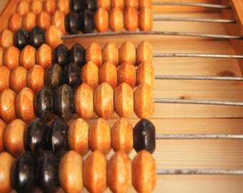 Abacus Vintage Soviet Calculator Counting Wooden Frame Mental Arithmetic Retro Gift USSR Russian Abacus Vintage Wall Decor