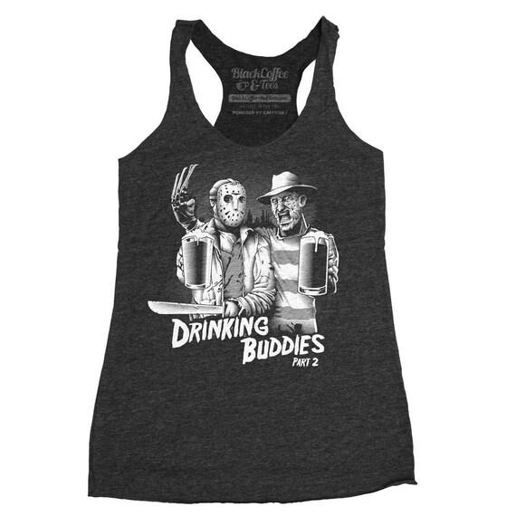 Halloween Shirt! Women's Freddy Krueger and Jason Shirt- Friday The 13th Shirt- Halloween Tank Top