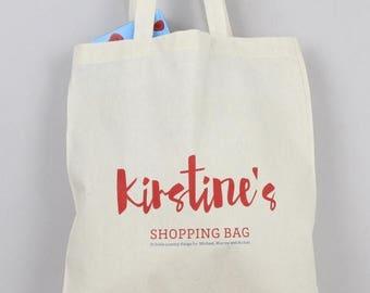 SUMMER SALE shopping bag, personalised, grocery bag, kids bag, book bag, market bag