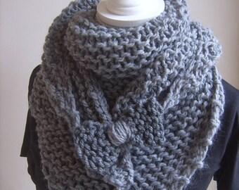 Handmade trendy gray shawl