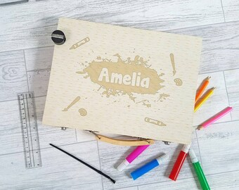 Children's Art Set, Personalised Art Set, Drawing, Colouring- 00089