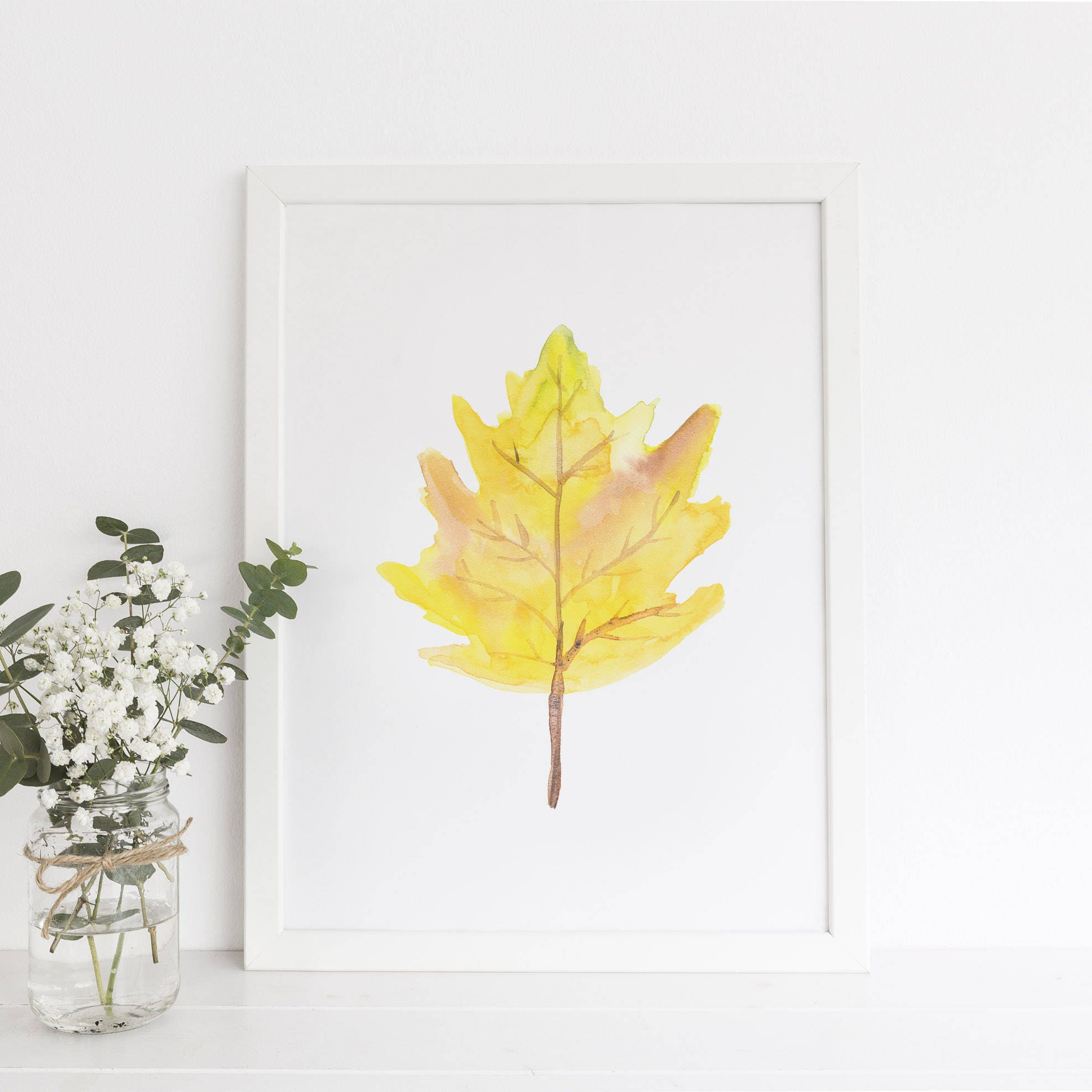 autumn leaf autumn leaves fall leaf print yellow leaf