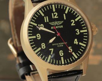 "POLJOT ""Aviator"" mechanical soviet men's wrist watch 2614.2N /R-50"