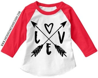 Love Arrows Youth Raglan