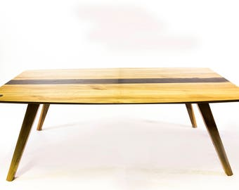 """96""""x 40"""" sycamore table"""