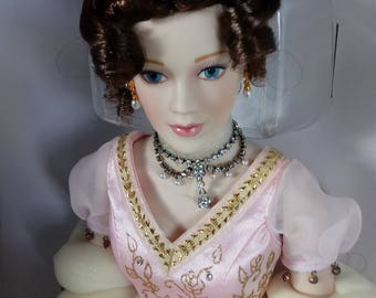 Franklin Mint Faberge Princess Sofia Porcelain Doll Imperial Debutante