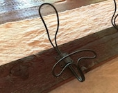 Vintage Inspired Wired Twisted Hook Rustic Wired Hook Primitive Wall Hook Farmhouse Hook