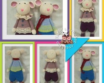Marceline and Marceau, little mouse to crochet