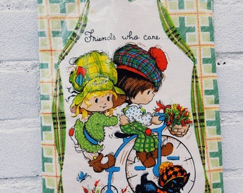 Vintage handbags - tote bag Mabel Lucie Attwell Oil cloth bag - peg bag - tote bag - sewing bag - bits and bobs