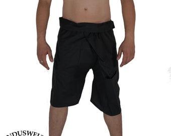 Short Thai Fisherman Pants Wrap Pants black