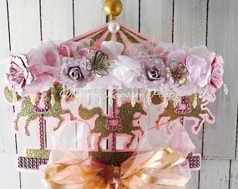 Carousel Horse Party - Carousel Centerpiece - Carousel Party Decorations - Carousel Party Decor - Carousel Party Centerpiece - Baby Shower
