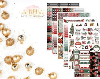 Christmas Time Kit | Winter Stickers | Weekly Kit | Christmas Kit | Planner Stickers designed for use with the Erin Condren Life Planner
