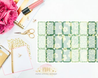 June Halfbox Stickers | Planner Stickers designed for use with the Erin Condren Life Planner