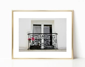 French Decor, Paris Photography, Gallery Wall Prints, Large Wall Art, Paris Prints, Travel Art, Window Print, Black and White