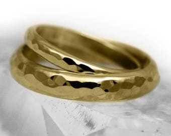 His and Hers D Shaped 18ct Gold 'Glenshee' Wedding Rings
