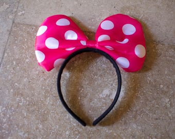 Minnie Mouse Bow, Polka Bow