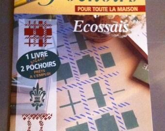 """stencil deco stencils """"Scottish"""" 1 magazine book two stencils"""
