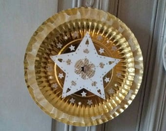 Round frame gold holiday Christmas or new year