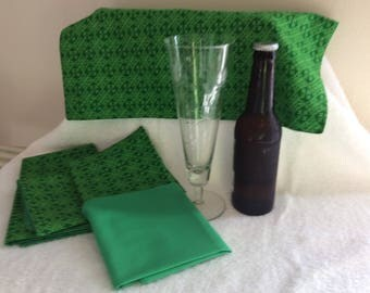 St. Patrick's Day Napkins Set of 2 - Irish Napkins - Celtic Napkins - double-sided cloth napkins
