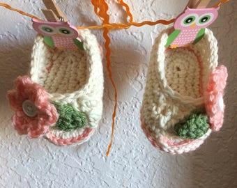Peekaboo baby shoes
