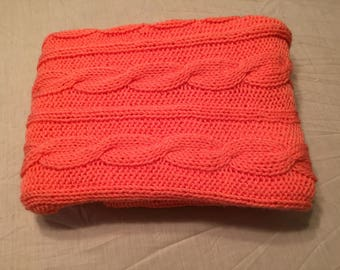 Orange Cable Blanket