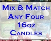 Mix & Match - Any Four 16oz Jar Candles