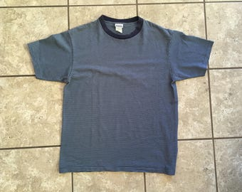 Basic Editions Striped T Shirt 90's Normcore Large