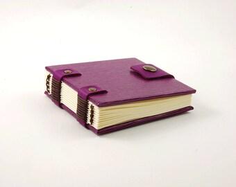 Petit carnet de sac à mains, journal, carnet de wishlist, carnet violet fermeture pression, grimoire, petit carnet de notes, journal intime