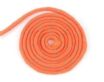 streaked orange Paracord 4mm grey 1 m (42 (A)
