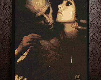 NOSFERATU - portrait - alternative movie poster print minimalist pop art draw paint horror Klaus Kinski Isabelle Adjani Werner Herzog
