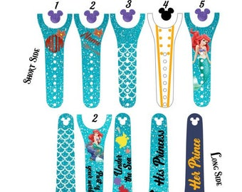 IMPROVED Magic Band 2.0 Decals, Ariel, The Little Mermaid, Princess, prince eric, under the sea, kiss the girl, personalized band