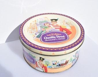 Rond Vintage Koekblik Tin Container Cookiejar