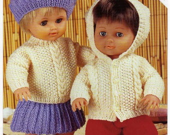 Pdf vintage Doll Clothes to knit instant download knitting pattern